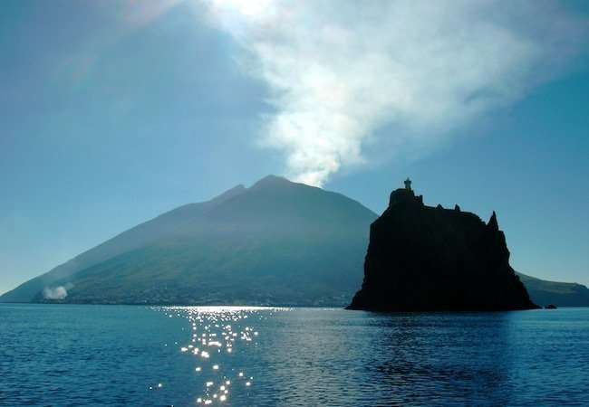 Stromboli island and Strombolicchio