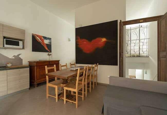 Gabbiano Relais Stromboli apartment Scirocco - living room