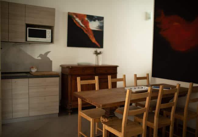Gabbiano Relais Stromboli apartment Scirocco - dining area