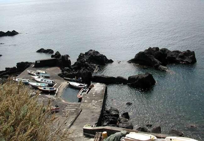 ginostra stromboli - the smallest harbor in europe